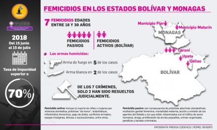 OVACEG: Informe de violencia armada con enfoque de género Bolívar y Monagas
