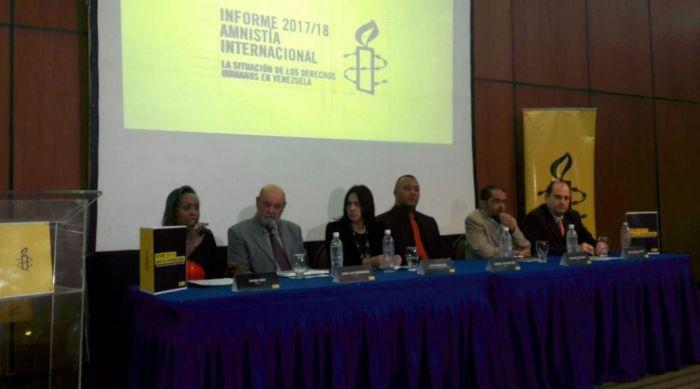 Informe Anual 2017/2018 de Amnistía Internacional sobre la emergencia humanitaria que afecta a Venezuela