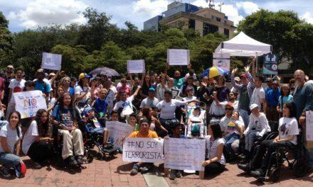 Personas con discapacidad exigieron respeto a sus derechos humanos