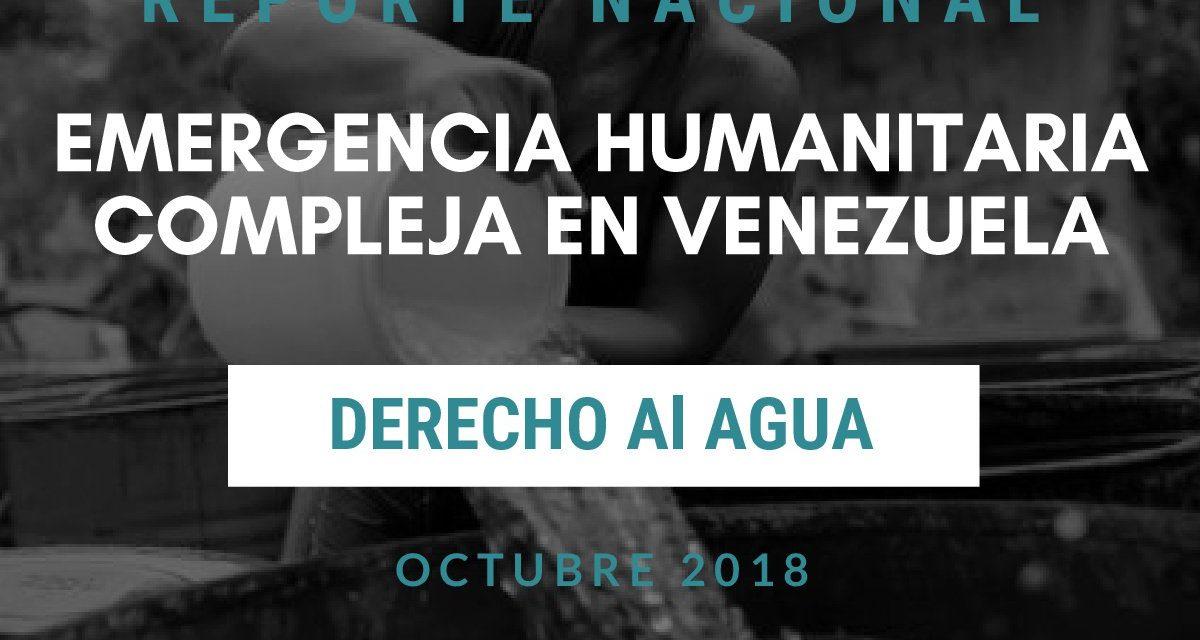 Reporte Nacional de la Emergencia Humanitaria Compleja en el Derecho al Agua
