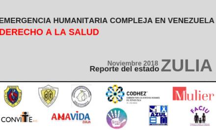 Reporte Nacional sobre el Derecho a la Salud en el estado Zulia