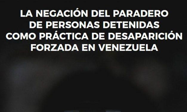 CDH-UCAB y Espacio Público presentaron informe: desapariciones forzadas en Venezuela 2014 – 2018