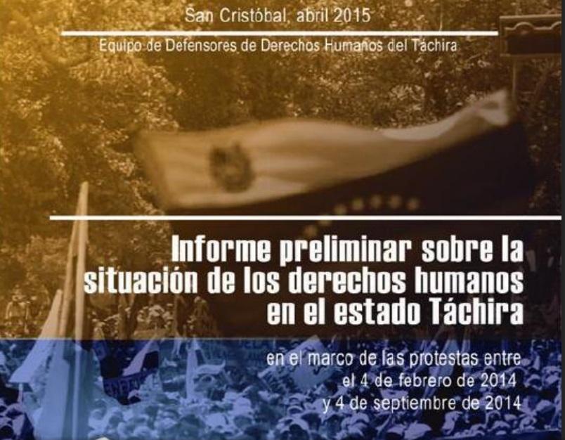Informe sobre la Situación de los Derechos Humanos en el Estado Táchira