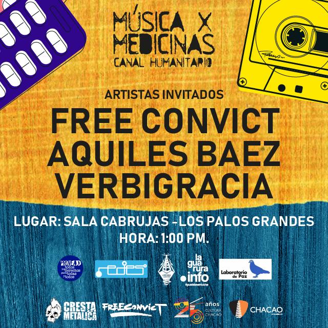 Música por Medicinas regresa a Caracas con Aquiles Báez y el lanzamiento del disco de Verbigracia