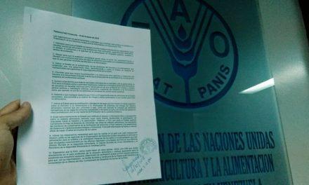 104 organizaciones solicitan a la FAO interpelar al Estado venezolano