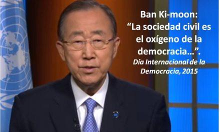 """Banki-Moon: """"La sociedad civil es el oxígeno de la democracia"""""""