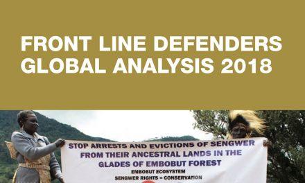 Análisis Global Front Line Defenders 2018