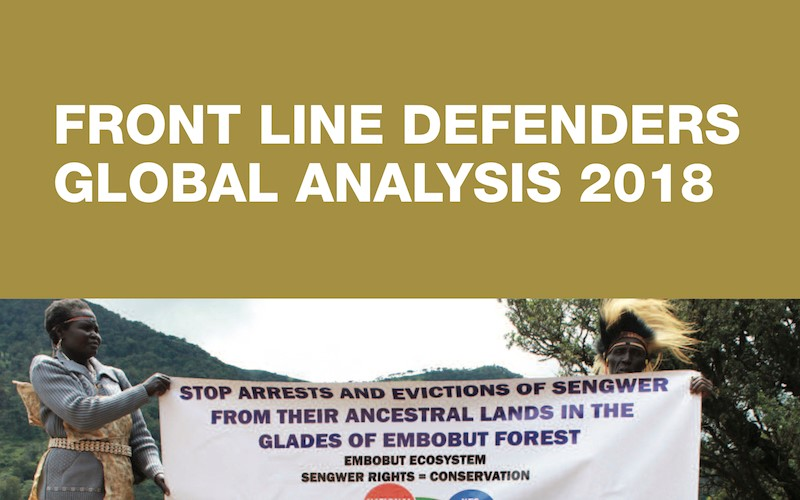 Análisis Global Front Line Defenders 2018