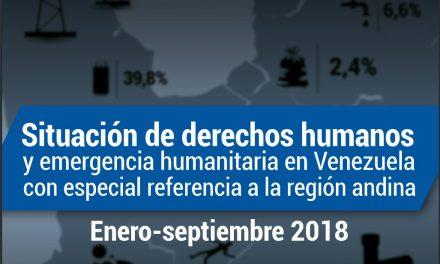 El Observatorio de DDHH de la ULA presentó informe sobre situación de DDHH y emergancia humanitaria en Venezuela