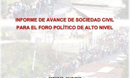Informe Sinergia: Agenda 2030 y Emergencia Humanitaria. Venezuela, un país en franca involución