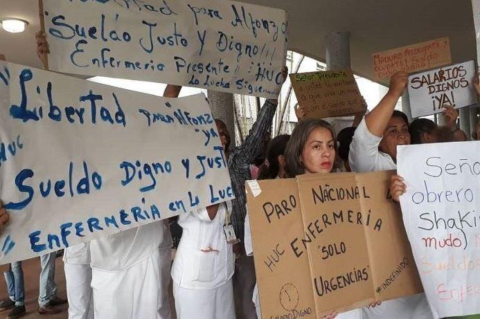 Tras tres meses de paro indefinido, enfermeros mantendrán la protesta por mejores condiciones