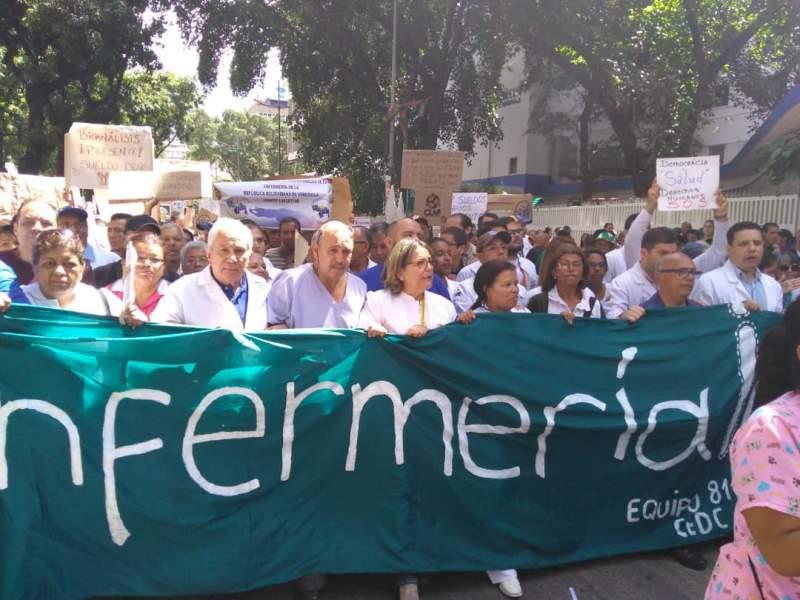 Piquetes de la GNB impidió movilización del sector salud desde el Hospital JM de los Ríos hacia Miraflores