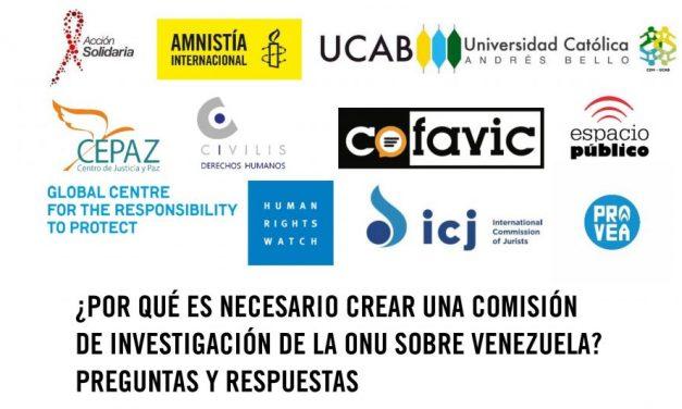 ¿Por qué es necesario crear una comisión de investigación de la ONU sobre Venezuela? Preguntas y respuestas