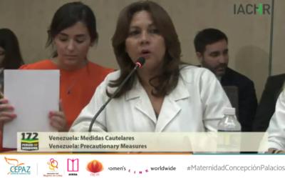 """Cepaz participó en el 172 periodo de sesiones de la CIDH """"revisión de la medida cautelar de la Maternidad Concepción Palacios"""""""