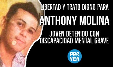 Provea denuncia detención y tratos degradantes contra Anthony Molina, joven con discapacidad mental