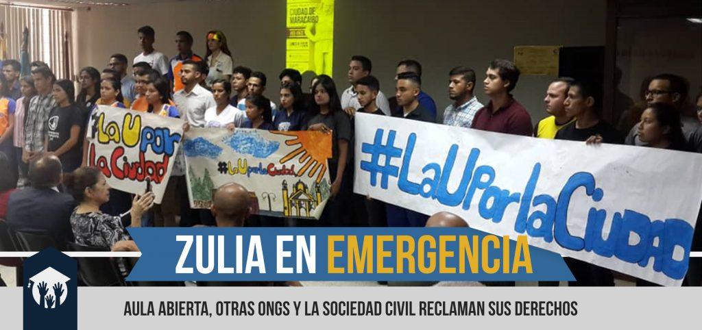 Aula Abierta, Sociedad Civil y el Movimiento Estudiantil de LUZ declaran al Zulia en emergencia humanitaria compleja y el colapso del Sistema Eléctrico Nacional.