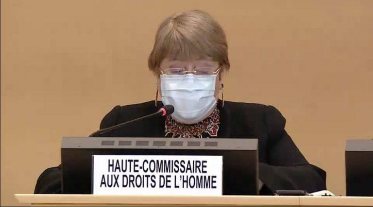 Discurso de la Alta Comisionada de las Naciones Unidas para los Derechos Humanos, Michelle Bachelet