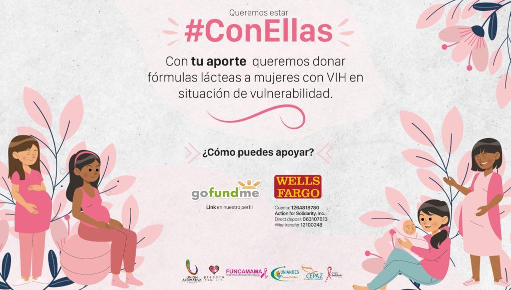 Alianza #ConEllas lanza nueva campaña para ayudar mujeres embarazadas con VIH/sida