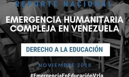 Reporte Nacional sobre el Derecho a la Educación en Venezuela