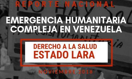 Reporte Nacional sobre el Derecho a la Salud en el estado Lara
