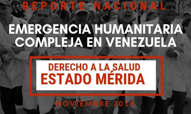 Reporte Nacional sobre el Derecho a la Salud en el estado Mérida