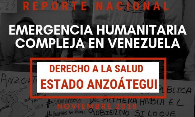 Reporte Emergencia Humanitaria Compleja en el Derecho a la Salud en el estado Anzoátegui