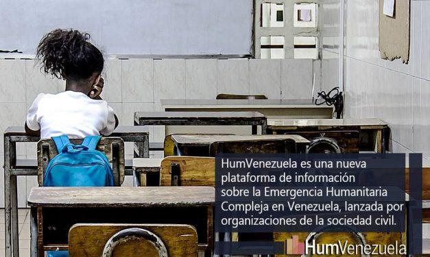 Organizaciones de la sociedad civil lanzan un portal sobre la Emergencia Humanitaria HumVenezuela