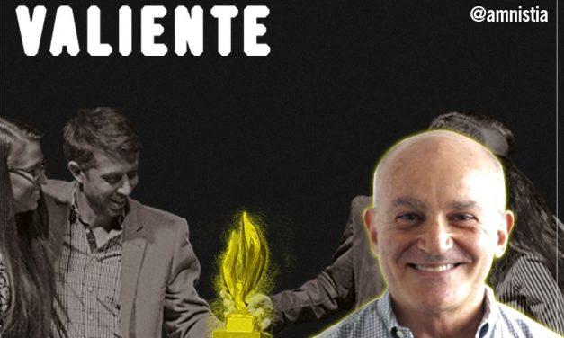 """Amnistía Internacional reconoció a Feliciano Reyna con """"la llama de la esperanza"""""""