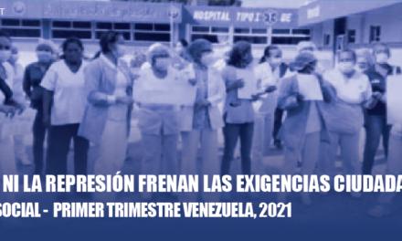 Informe / El OVCS registró 1.506 protestas en los primeros 90 días de 2021