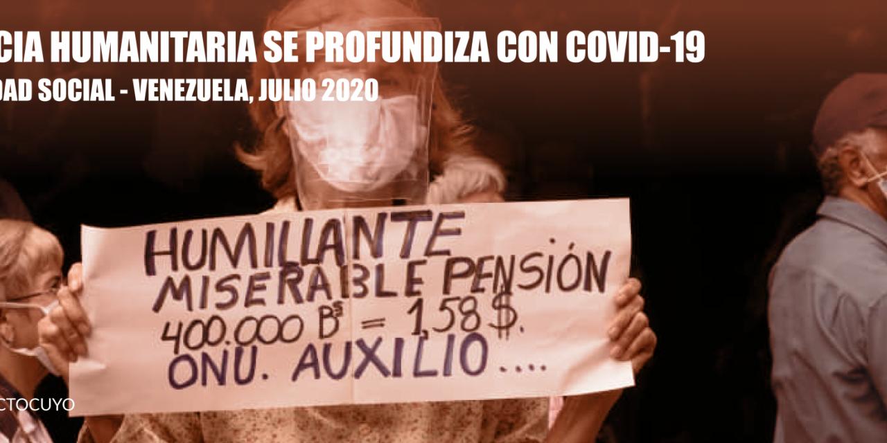 El Observatorio Venezolano de Conflictividad Social  registró 649 protestas en julio de 2020, equivalente a un promedio de 22 diarias.