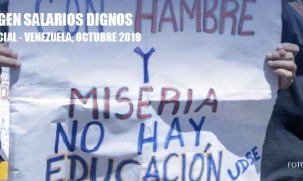 El Observatorio Venezolano de Conflictividad Social registró 1.739 protestas durante el mes de octubre de 2019, lo que equivale a un promedio de 58 diarias.