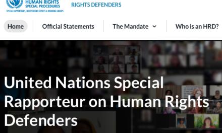 Página web: Relatora Especial sobre la Situación de los Defensores de Derechos Humanos