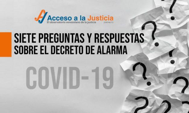 Acceso a la Justicia: Siete preguntas sobre el estado  de  alarma contra el coronavirus