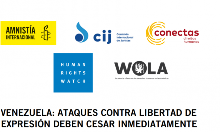 Venezuela: Ataques contra la libertad de expresión deben cesar inmediatamente