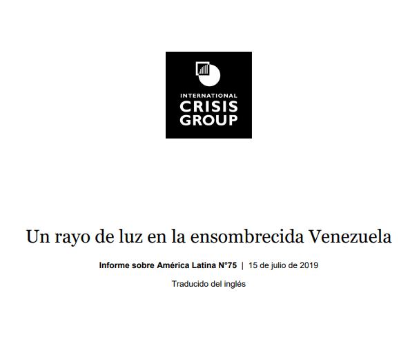 """Crisis Group: """"Un rayo de luz en la ensombrecida Venezuela"""""""