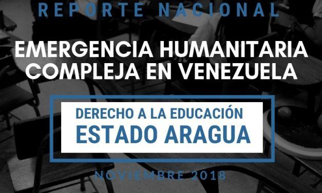 Reporte  Emergencia Humanitaria Compleja en el Derecho a la Educación en el estado Aragua