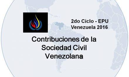 170 ONG del movimiento de DDHH autónomo contribuyeron con más de 50 informes al 2do examen en DDHH de Venezuela