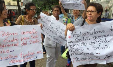 Trabajadores de la salud rechazan tabla salarial única