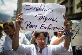 Venezuela: A las enfermeras les pagan con pobreza extrema