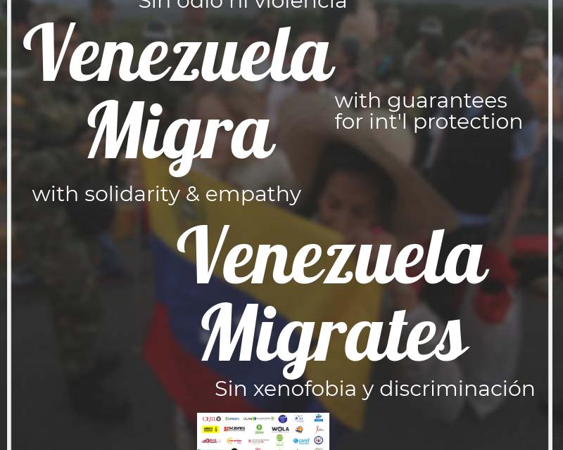 Más de 250 organizaciones y expertos suscribieron la carta abierta ante el masivo desplazamiento forzado de venezolanos